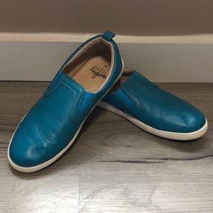 Monkey Feet Blue Leather Loafers